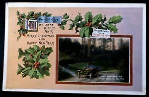 Seattle WA Christmas Greetings From Woodland Park ~Antique 1919 Postcard-h901