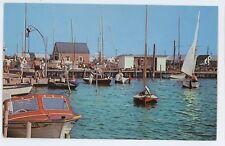 Boats Harbor SURF CITY NJ Long Beach Island Vintage New Jersey Shore Postcard 2