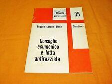 eug carson blake consiglio ecumenico e lotta antirazzista opuscolo claudiana '70