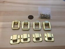 4 Pieces - Gold style hasp small box hardware lock latch latches catches C23