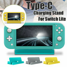 For Nintendo Switch Lite Console Charging Dock Stand Adjustable Mount USB Type C