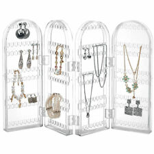 Jewelry Transparent Stand Display Organizer Necklace Ring Earring Holder Rack AU