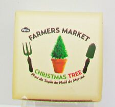 FARMERS MARKET CHRISTMAS TREE KIT In Box Terra Cotta Pot Compost Disc Pack Seeds