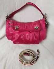 COACH 15302 POPPY STORYPATCH GROOVY PINK CONVERTIBLE CROSSBODY/SHOULDER BAG
