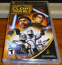 Star Wars The Clone Wars Republic Heroes for PSP Portable Factory Sealed!