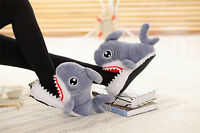 3D Slip-Resistant Shark Head Cotton Slippers Adult Soft Plush Cotton Handmade us