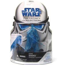 "Star Wars Legacy (BD21) Count Dooku Holographic 3.75"" Figure w/BAF Piece"