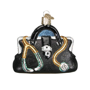 Old World Christmas DOCTOR'S BAG (36084)N Glass Ornament w/ OWC Box