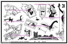 Nessie Loch Ness Monster Unmounted Rubber Stamp Set Scotland Scottish Lore