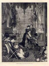 Ferroviaire-wagon-union pacific railway-traction Engine-Gravure sur bois 1875 musique