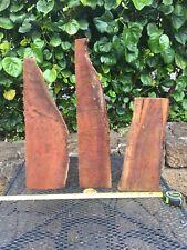 """3 Reclaimed Curly Wax Sealed Ready To Turn Koa Bowl Blanks 3@15-24""""x1-7x1-3"""""""