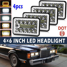 4pcs 4x6 Sealed Hi/lo Beam DRL LED Headlights fit Chevy C10 K10 G30 C5500 Kodiak