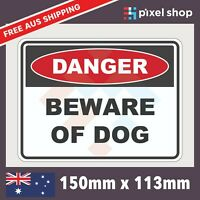 DANGER - BEWARE OF DOG Self Adhesive Sticker Safety Sign Fence Aggressive Animal