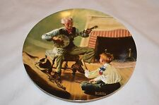 "* New* ""The Banjo Player"" Norman Rockwell Collector Plate , 1989 (7, Pl2)"