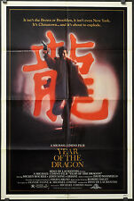 YEAR OF THE DRAGON 1985 ORIG 27X41 MOVIE POSTER MICKEY ROURKE JOHN LONE
