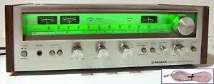 🔥【PRO SERVICED】Pioneer SX-580 Stereo 40W Receiver!Phono,CHOOSE COLOR 💥GUARANTY