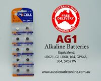 PK CELL Quality AG1 Alkaline Batteries 1.5 V 10 pieces - Aussie Outlet Online