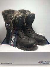Pajar Canada Womens Size 6 Euro 37 Alice Dark Brown Lace Up Winter Hiking Boots