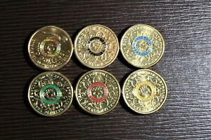 2016 Aust Rio Olympic Games $2.00 coins - whole set