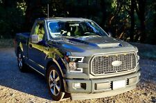 2015-2019 FORD F-150 SSK STYLE FUNCTIONAL HEAT EXTRACTOR RAM AIR HOOD + WARRANTY