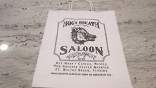 "NEW- HOG'S BREATH SALOON-THE SOUTH SHOPPING BAG-2-SIDED- 13X15""'-MEDIUM SIZE"