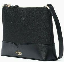 Kate Spade Lola Glitter Crossbody Black WKR00081 NWT $179 Retail FS