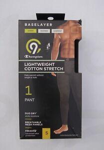 Champion C9 men's small black warm lightweight cotton stretch baselayer pants