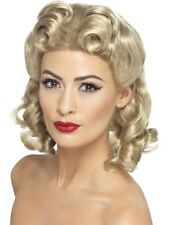 Adult 40'S Sweetheart Wig Blonde Ladies 1940s Fancy Dress