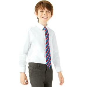 !! EX HIGHSTREET F&F !! 2 x BOYS SCHOOL SHIRTS REGULAR FREE P&P