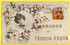 CPA RARE France 75 - PARIS Un BONJOUR de l'Avenue d'ANTIN en 1908 à Lucie MILLET