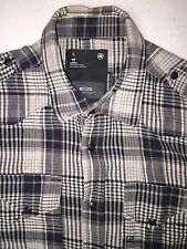 G-Star Raw Rd South East D Button Down Zip Up Double Front Pocket Shirt Size L