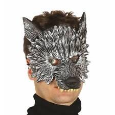 Adults Half Face Big Bad Wolf Storybook Mask Halloween Book Week Fancy Dress