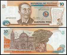 1986 NEW DESIGN SERIES 10 Pesos MARCOS - FERNANDEZ. Philippine Banknote SCARCE