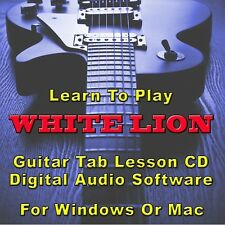 WHITE LION Guitar Tab Lesson CD Software - 21 Songs