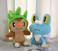 New Nintendo Pokemon X Y Game Doll Chespin & Froakie Plush Soft Toy RARE!