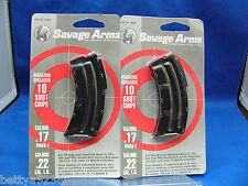 TWO Savage Magazine Mag  22 clip  Lakefield  Mark II 501 504 & 900 10 Rd  20005