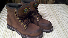 MENS Size 9 Weather Spirits boots Brown Bonded leather finish
