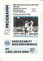 OL 89/90 Fortschritt Bischofswerda - FC Carl Zeiss Jena