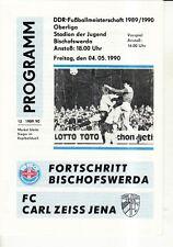 OL 89/90 Fortschritt Bischofswerda - FC Carl Zeiss Jena, 04.05.1990