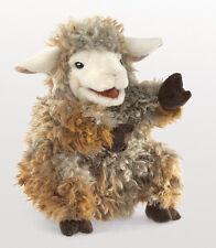 Folkmanis Woolly Lamb Hand Puppet Sheep Tan Cream Gray Stuffed Animal 3yrs+ NEW