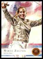 2012 TOPPS OLYMPICS COPPER MARIEL ZAGUNIS FENCING #32 PARALLEL
