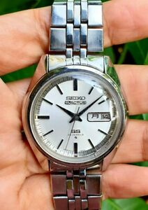 Seiko 5 Actus 6106-7510 Silver Dial 25 Jewels Mens Vtg January 1973 Japan Watch