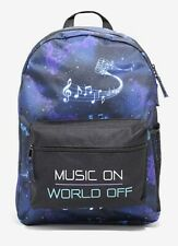 "New Music On World Off Galaxy Backpack School Book Bag 18"" x 12 1/2"" x 5 1/2"""