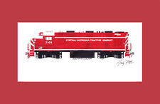"""Central California Traction BL21CG 11""""x17"""" Matted Print Andy Fletcher signed"""
