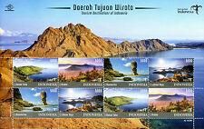 Indonesia 2017 MNH Tourism Destinations Danau Taba Mandalika Bromo 8v M/S Stamps