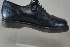 "Aldo UNISEX (""style  DR. MARTEN "") WING TIP CASUAL LEATHER BLACK SHOES M: 10 L11"