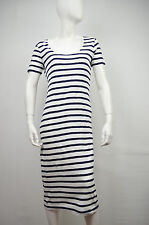 FCUK FRENCH CONNECTION NWT BLUE & WHITE SARDINA STRIPE MATERINITY DRESS SIZE: M