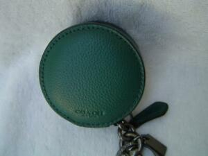 NEW AUTHENTIC COACH MENS PINE GREEN LEATHER ZIP CASE #34869
