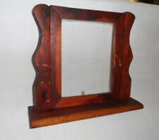 Unique Primitive Wooden Picture Frame on stand