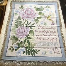 Sweet Friend Hummingbird Tapestry Throw Blanket